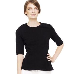 EUC Club Monaco Selma Top in Black Crepe